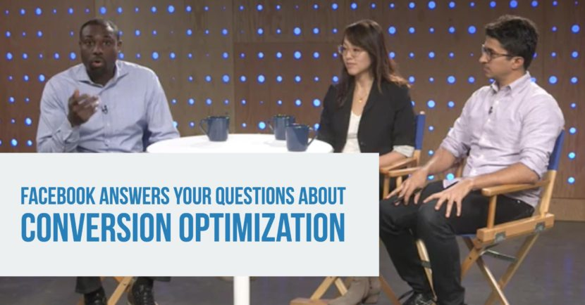 Shot of Facebook digital marketing team discussing conversion optimization