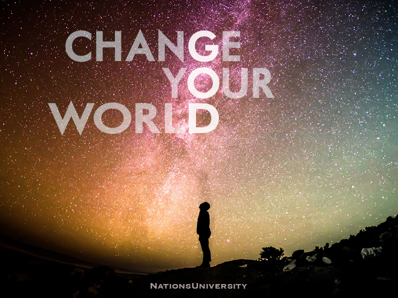 Change Your World Facebook header for online university created by Rich Paschall, communications and digital marketing, Nashville TN