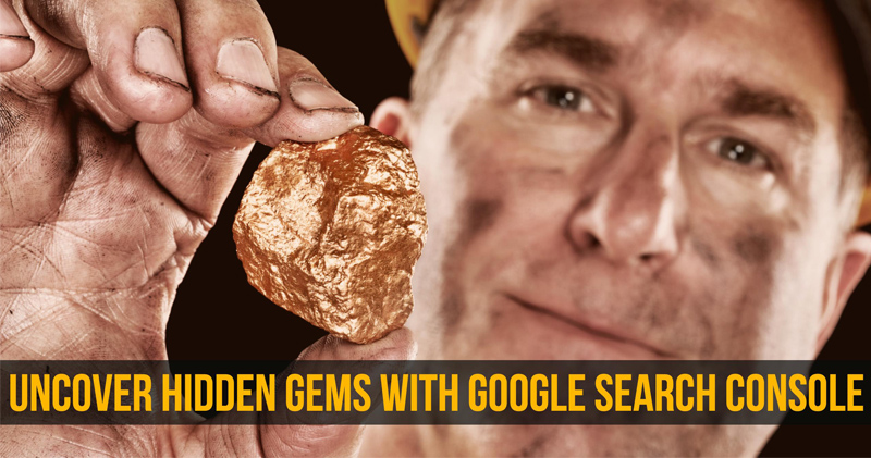 Shot of a miner holding hidden gem for article about how to use Google Search Console to improve your paid search campaigns